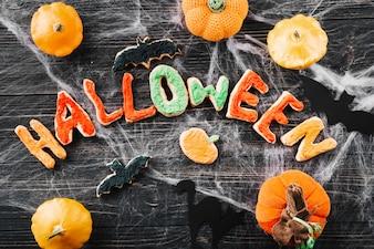 Halloween cookies and pumpkins