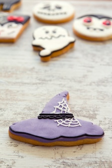 Halloween cookies with different shapes