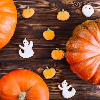 Halloween cookies with pumpkins
