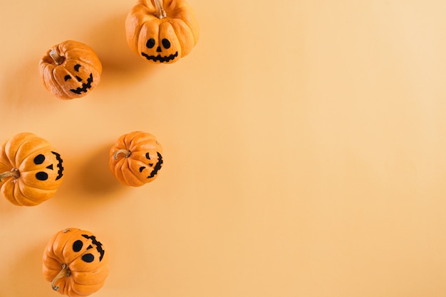 Halloween crafts, orange pumpkin