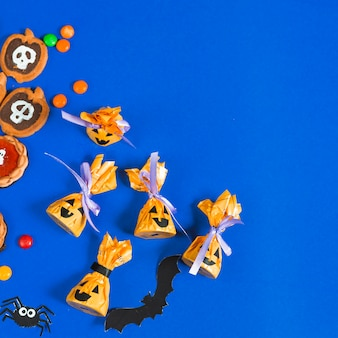 Halloween creative candies and biscuits