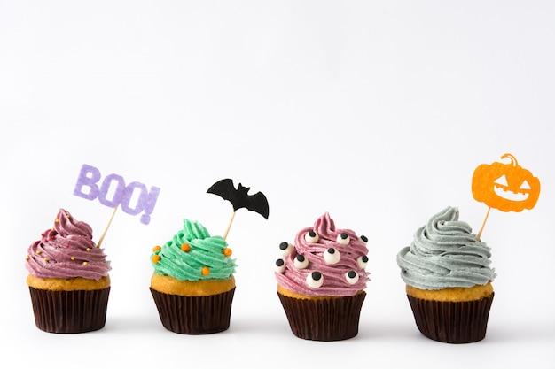 Halloween cupcakes isolated