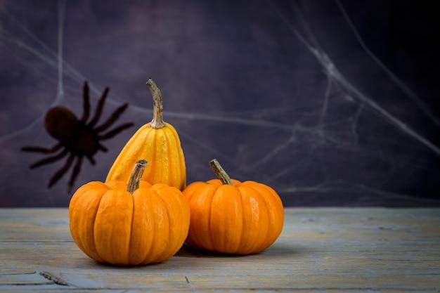 Halloween decoration background. pumpkins