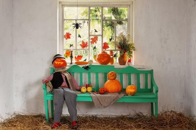 Украшение на хэллоуин в помещении