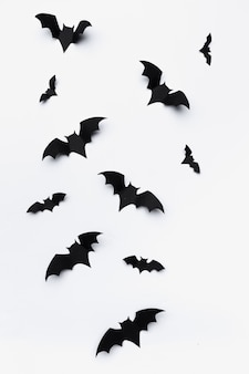 Halloween and decoration  - paper bats flying
