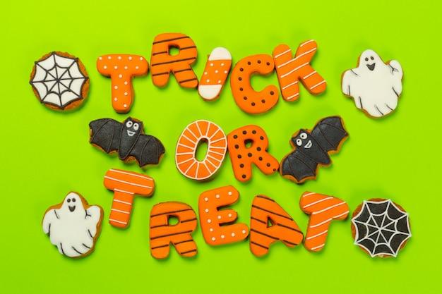 Halloween decoration with cookies