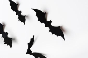 Halloween decorations on wall