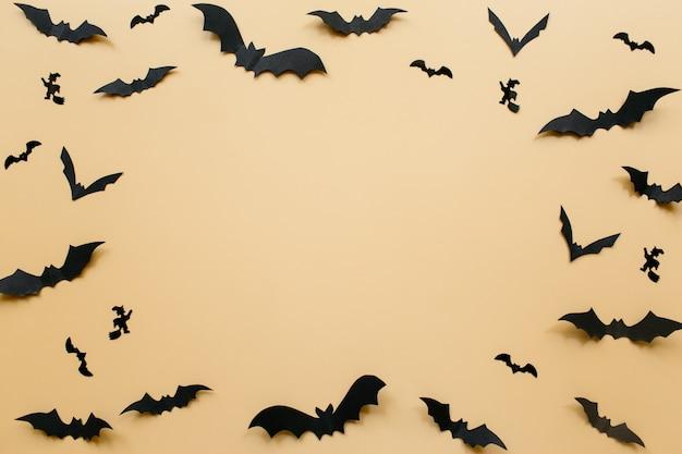 コウモリとハロウィーンの装飾
