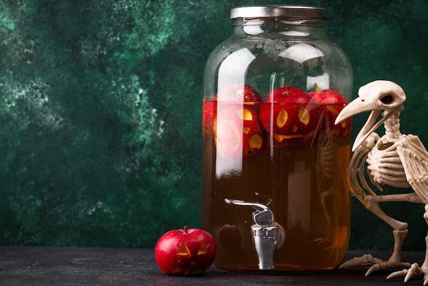 할로윈 음료 가을 사과 사이다
