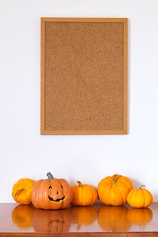 Halloween empty photo frame