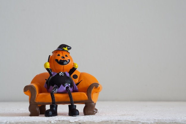 Halloween festival head doll pumpkins  haunted spooky  decoration .