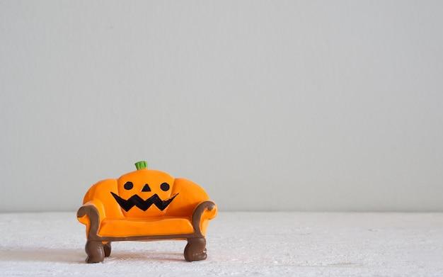 Halloween festival head doll pumpkins  haunted spooky sofa decoration