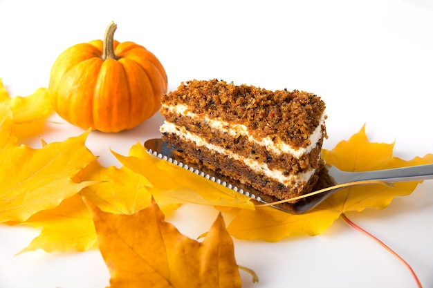 Halloween food. halloween creamy pie.