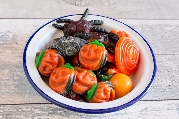 Halloween fruit jelly