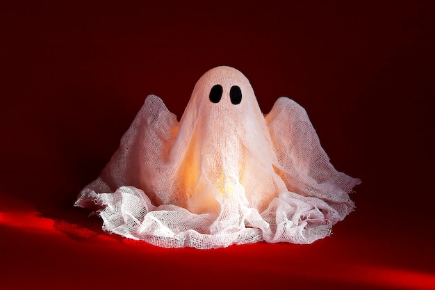 Halloween ghost of starch and gauze