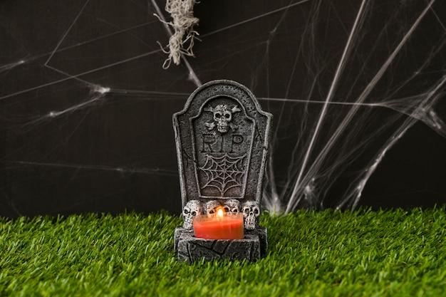 Concetto di cimitero di halloween