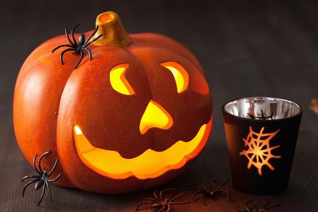 Хэллоуин джек о фонарь тыквенные пауки свечи