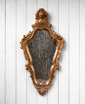 Halloween  mirror on white background