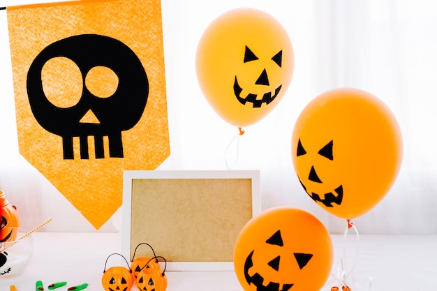 Хэллоуин оранжевые украшения для вечеринки
