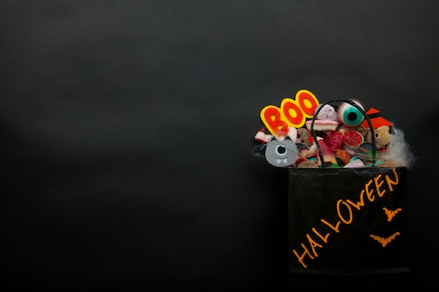Halloween package with party decorations
