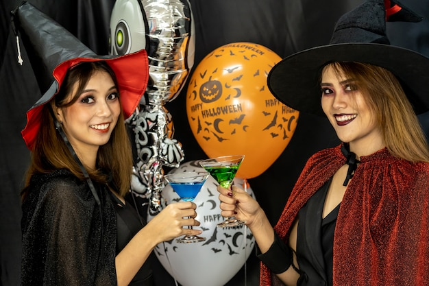 Halloween party drinking