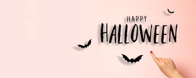 Halloween party greeting card mockup