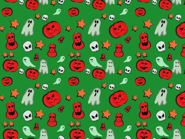 ハロウィン柄かぼちゃグーストスカルスター