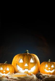 Halloween pumpkin burning