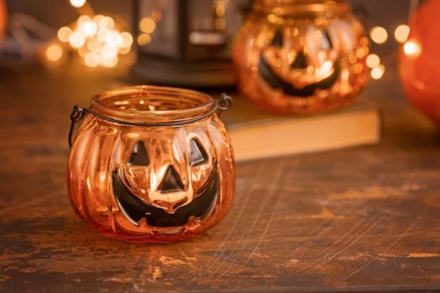 Хэллоуин тыква голова джек стеклянный фонарь
