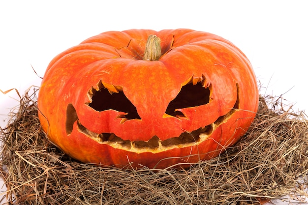 Тыква на хэллоуин, изолированные на белом фоне