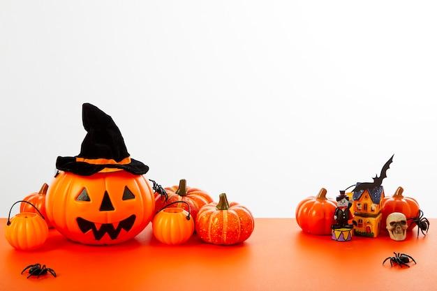 Halloween pumpkin lantern floor orange