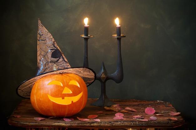 Хэллоуин тыква на темном