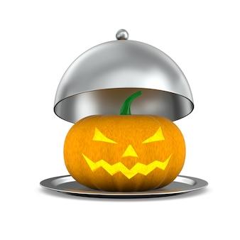 Тыква хеллоуина на белой предпосылке. изолированная 3-я иллюстрация