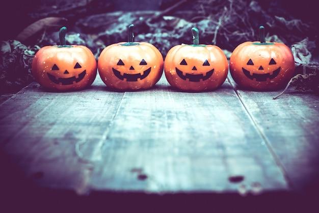 Halloween pumpkin, trick or treat in autumn season