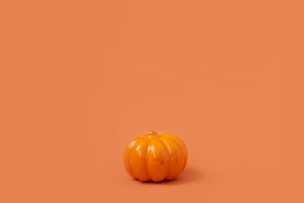 Halloween pumpkin with candlelight