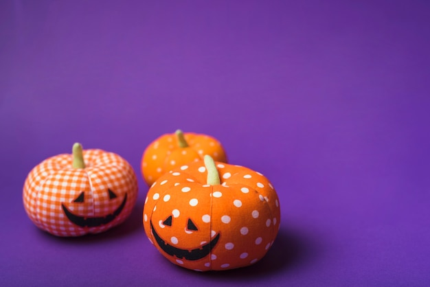 Halloween soft orange pumpkins