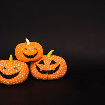 Halloween soft smiling pumpkins