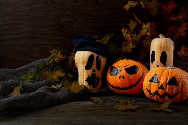 Halloween stingy jack pumpkins