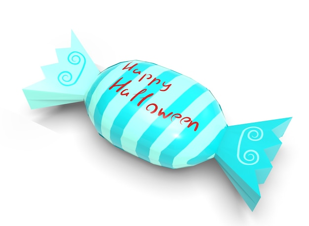 Halloween sweets on a white background