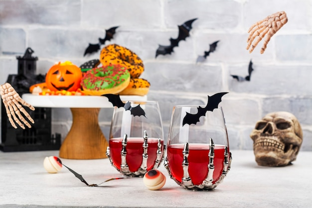 Halloween trick or treat party table