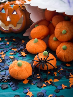 Halloween trick or treat still life
