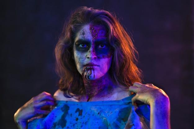 할로윈 좀비 여자