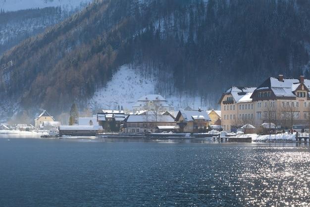 Hallstatt cityscape in austria