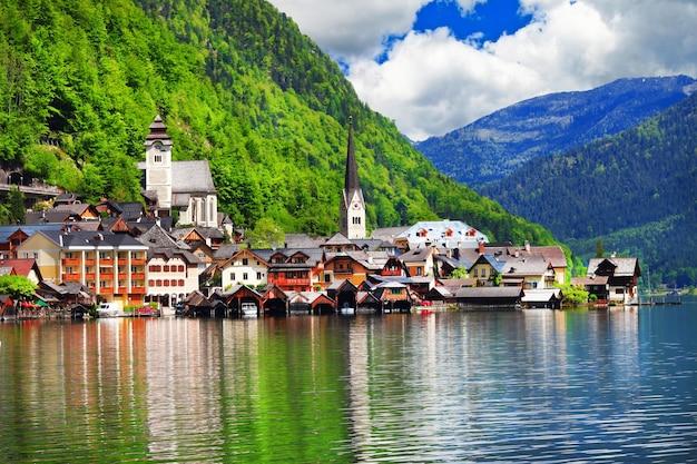 Hallstatt , pretty austrian village on lake