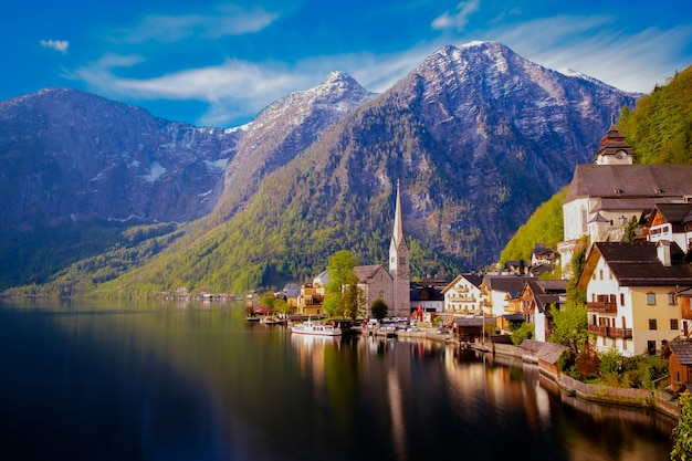 Hallstatt town in austria.