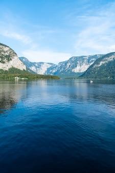 Hallstatter lake in austrian alps