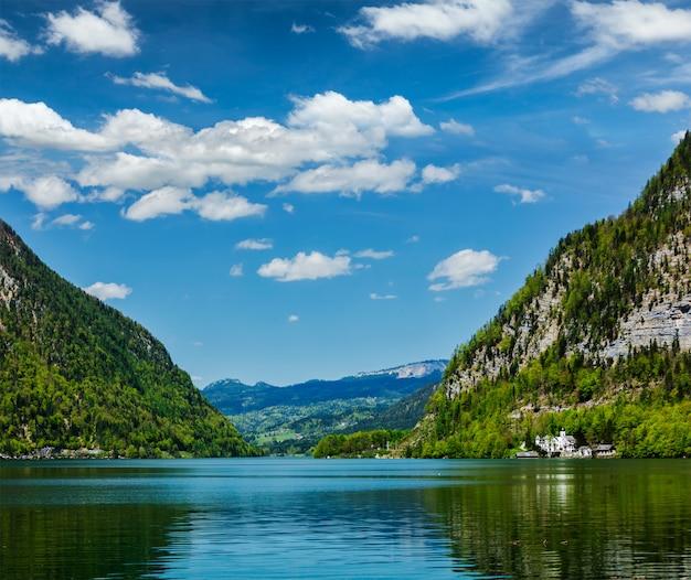 Гальштеттер зее горное озеро в австрии