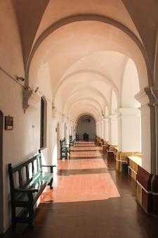 Hallway of an abbey