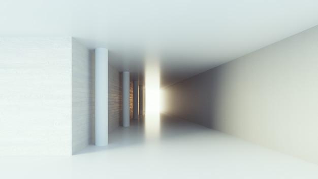 Hallway interior / 3d rendering