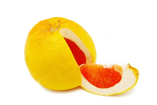 Halves grapefruit isolated on a white